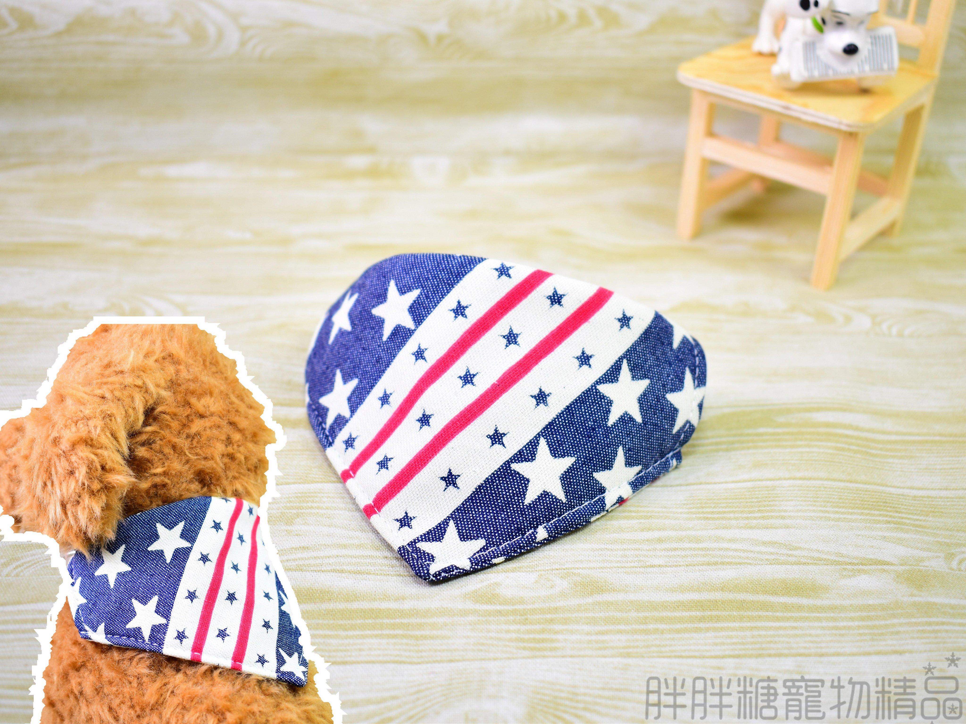 【胖胖糖】美國牛仔風領巾項圈(XS號)-寵物項圈 可伸縮 大中小型犬 頸圈 貓項圈 狗項圈