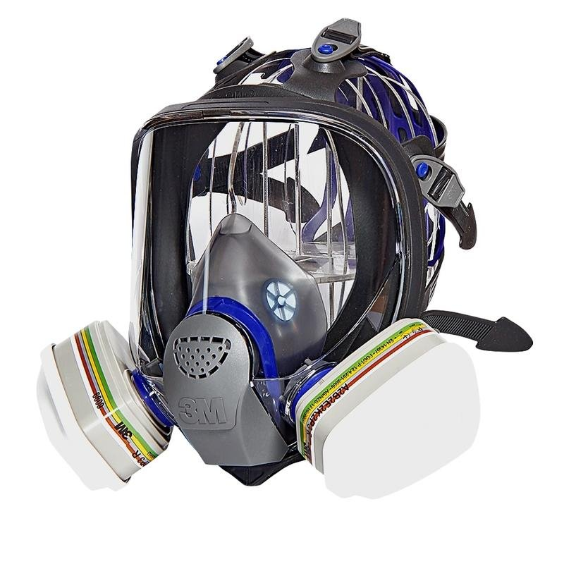 【低價王】3M FF402防毒面具八件組 全矽膠防毒面罩 濾毒罐 全罩式防毒面具 濾棉另有3M N95口罩【免運全套附】