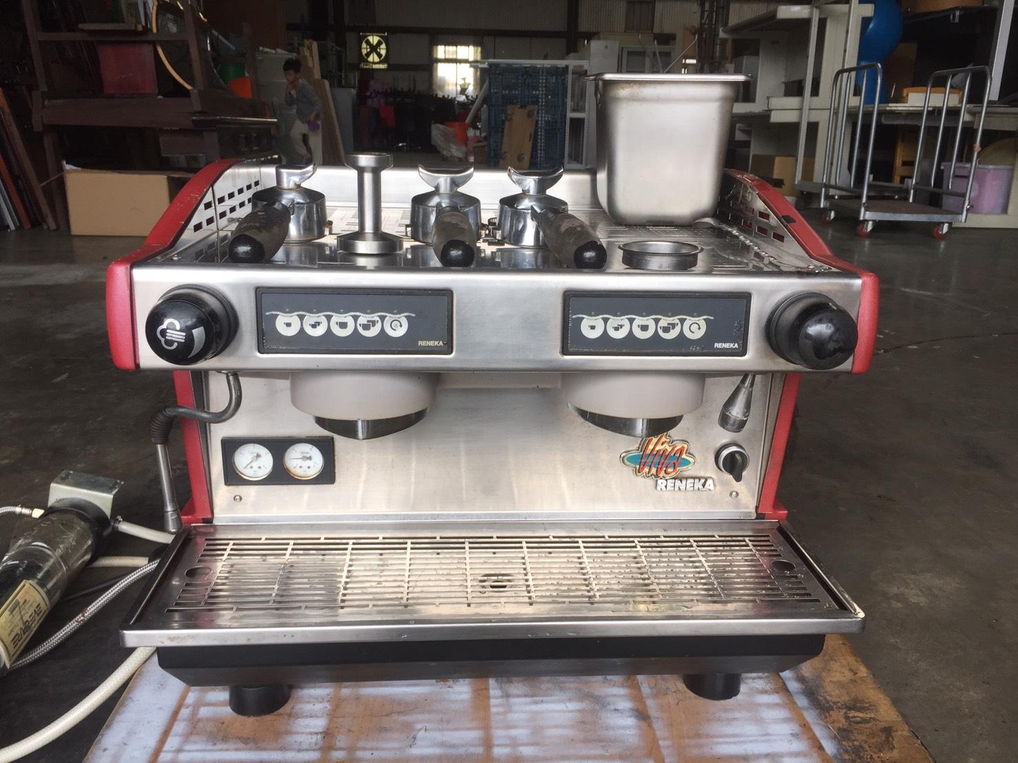 桃園國際二手貨中心---RENEKA  義式2孔咖啡機 / 半自動咖啡機 / 營業用咖啡機 / 拿鐵.義式咖啡專用~