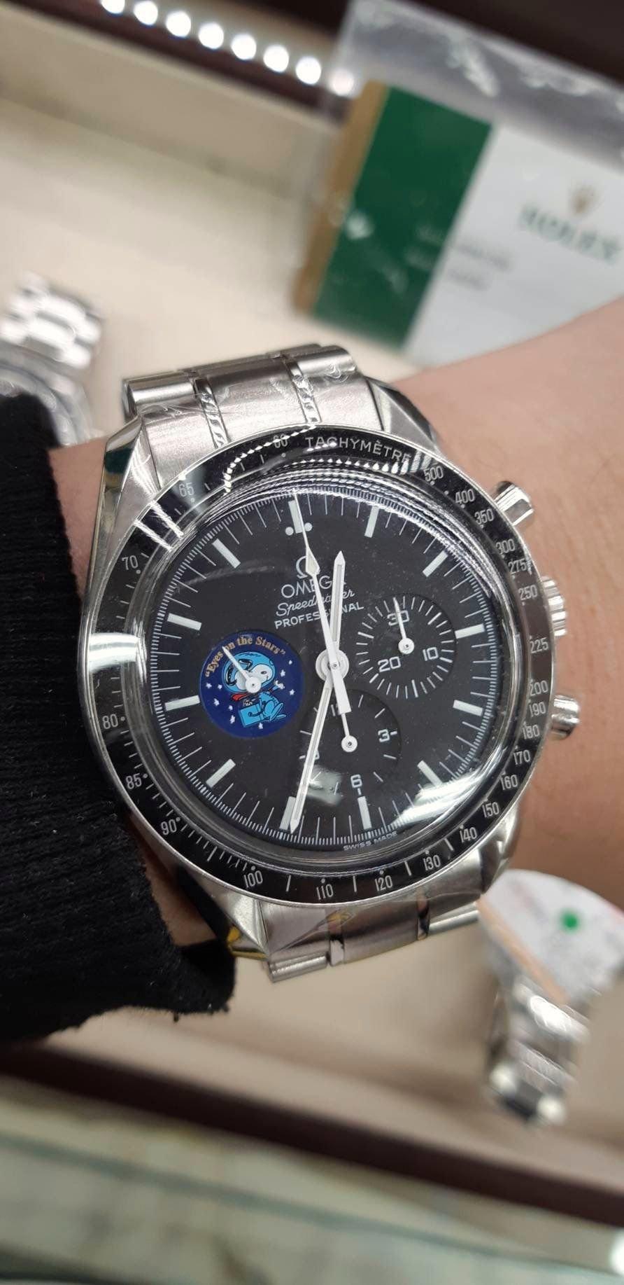 『已交流』👏👏Omega Speedmaster 超霸月球錶 史努比限量版  歐米茄