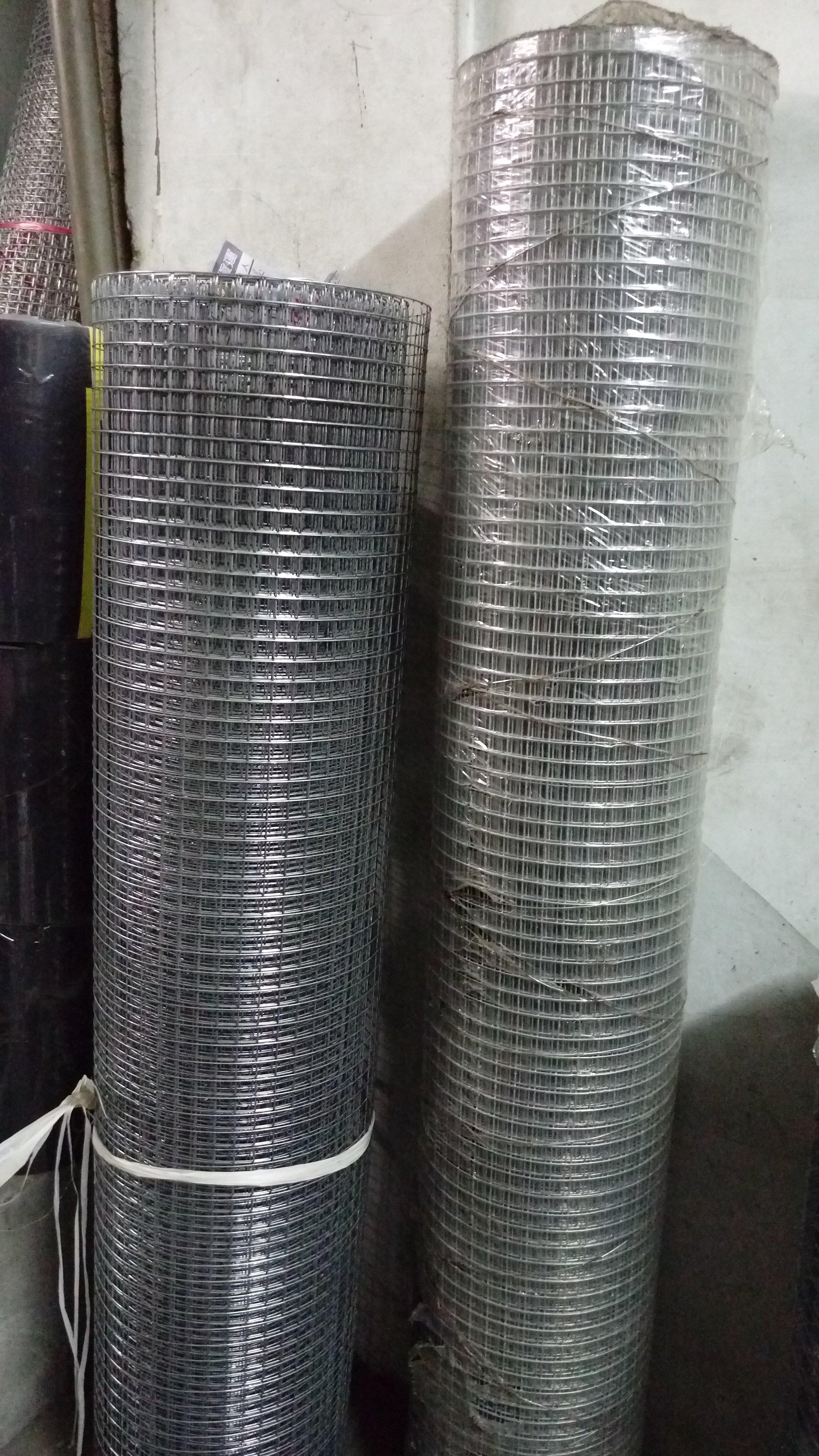 點焊鋼絲網 點焊網 16# 3/4  4尺寬 全長約50尺 6分孔徑 鍍鋅網 鐵網  圍籬_粗俗俗五金大賣場