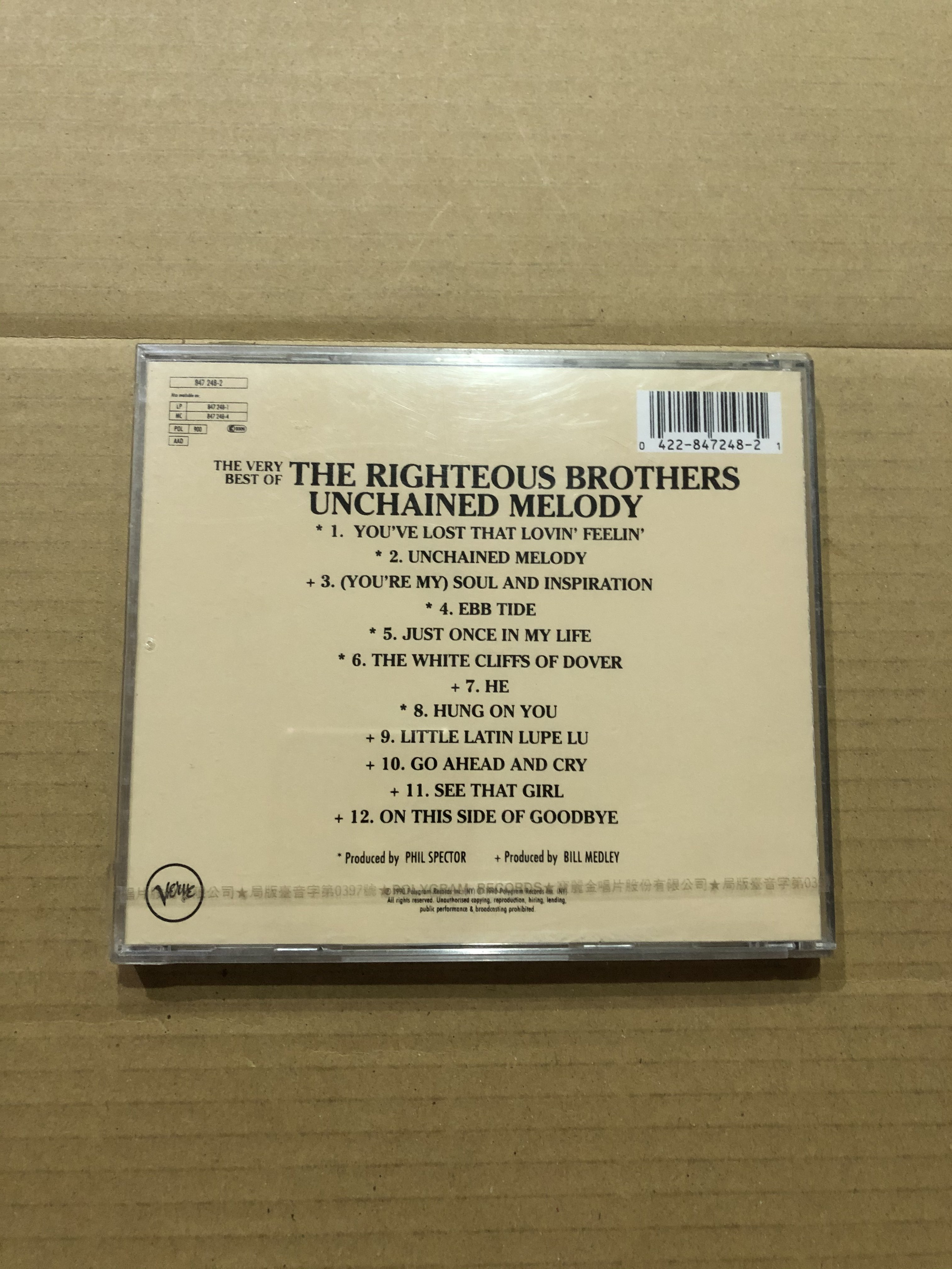 *還有唱片三館*THE RIGHTEOUS BROTHERS / BEST 全新 YY0113