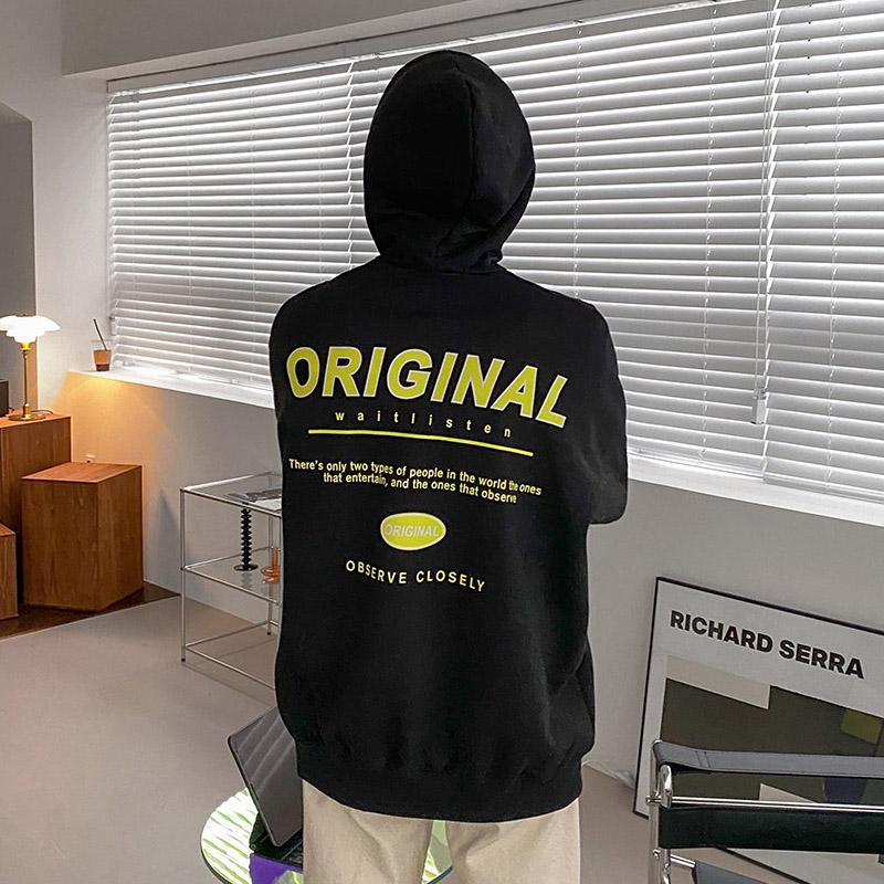 正韓男裝 ORIGINAL落肩連帽衛衣 / 5色 / FD1120969 KOREALINE 搖滾星球