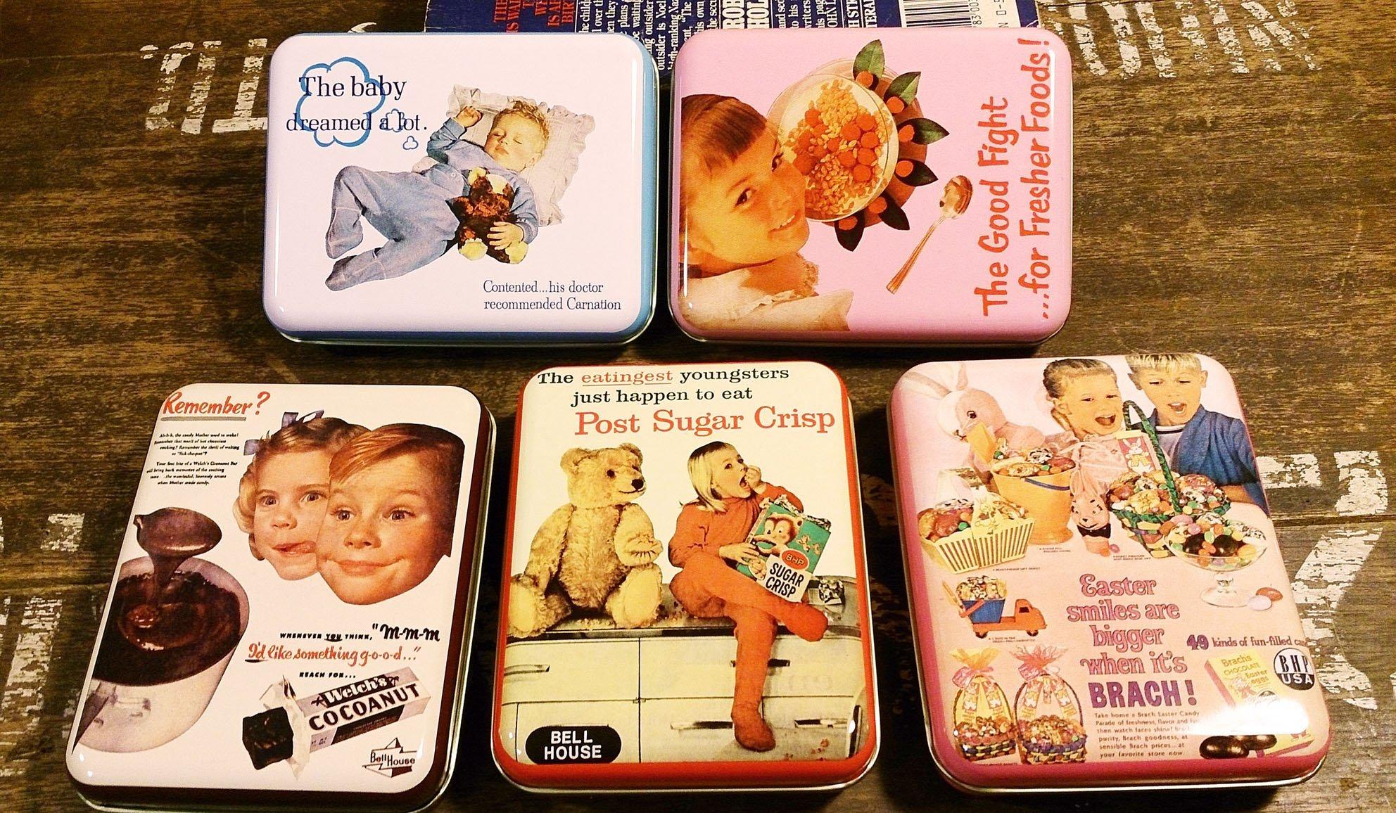 50年代復古風鐵盒 : 收納 鐵盒 復古 工業風 收藏 居家  文具 裝飾 雜貨