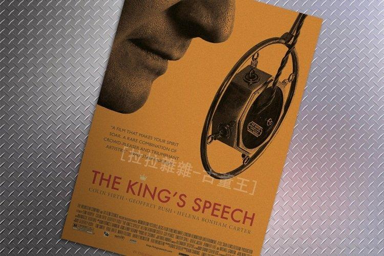【貼貼屋】王者之聲:宣戰時刻The king #x27 s speech 懷舊復古 牛皮紙 海報 壁貼 店面裝飾 513