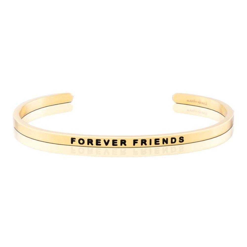 MANTRABAND 美國悄悄話手環  FOREVER FRIENDS 一輩子的好朋友 金色手環