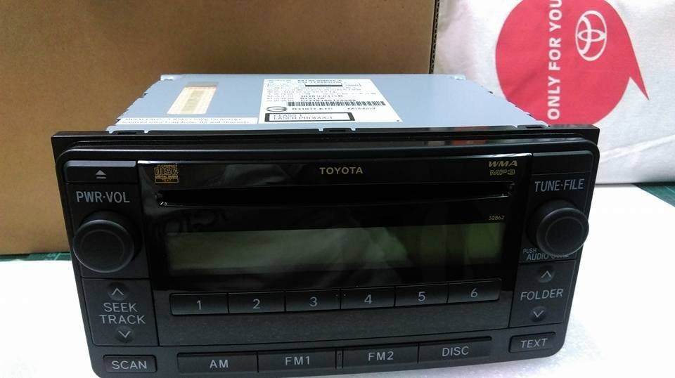 2016 TOYOTA WISH CD / MP3 / WMA 原廠全新汽車音響主機_國際牌Panasonic加送廣角鏡