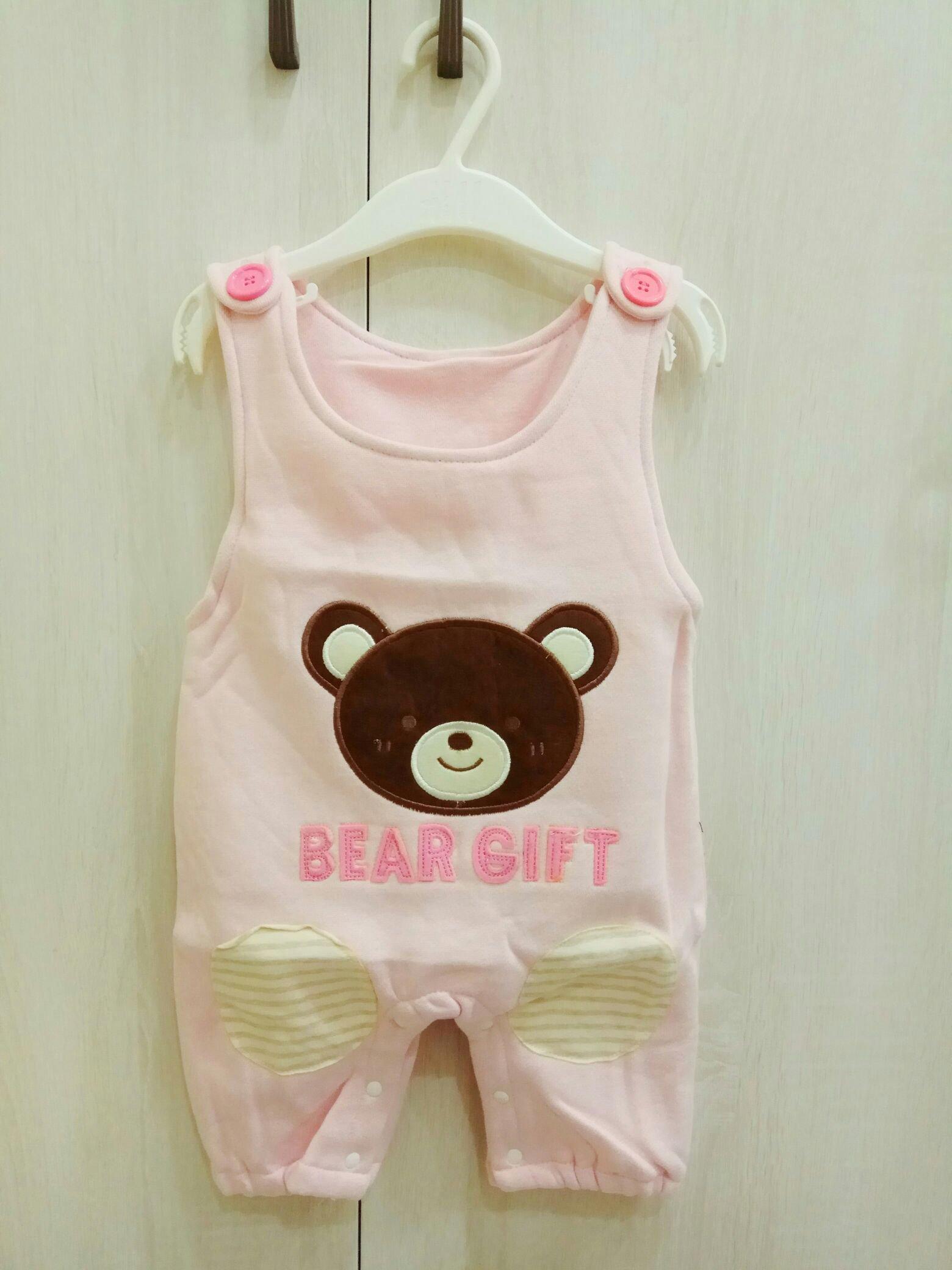 (身高90cm)小童 熊熊內刷毛保暖連身衣 睡袍-100%棉