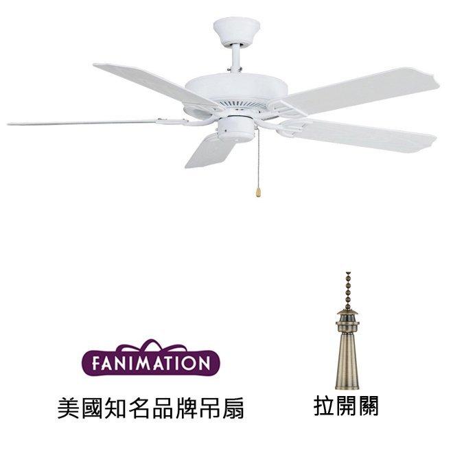 Fanimation Aire Decor 52英吋吊扇(BP230MW1)平白色 適用於110V電壓