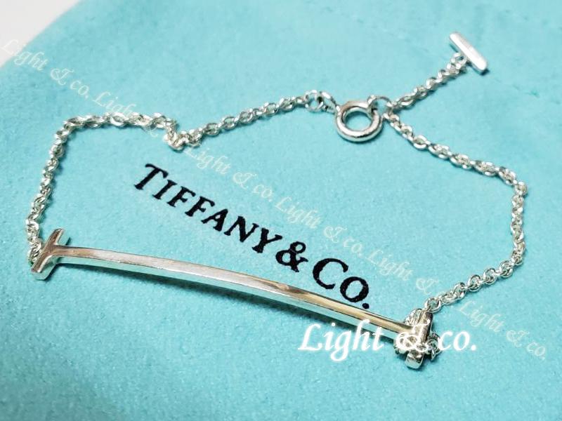 【Light & co.】專櫃真品已送洗 TIFFANY 純銀 新款 TIFFANY T smile 微笑 手鍊 手環