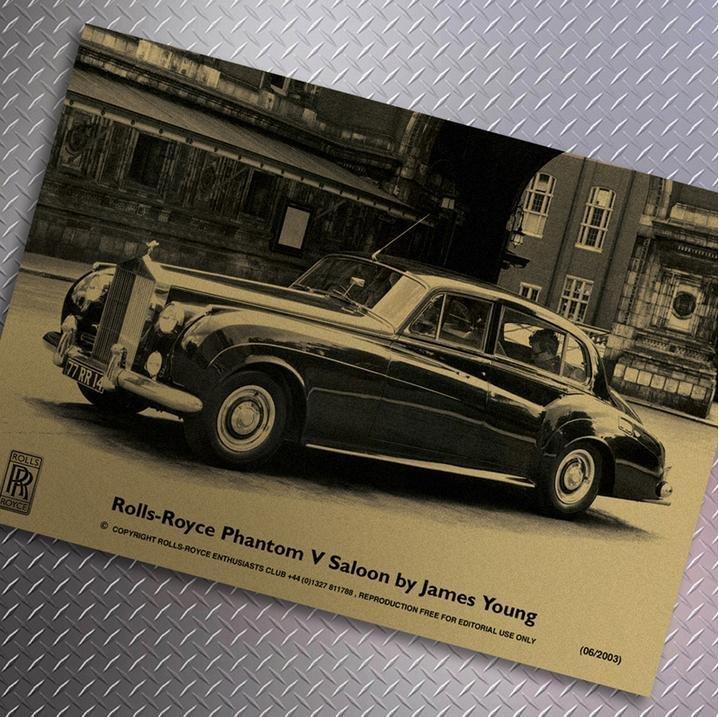 【貼貼屋】勞斯萊斯 Rolls Royce 懷舊復古 牛皮紙海報 壁貼 店面裝飾 電影海報 361