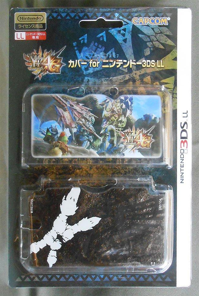 【月光魚 電玩部】現貨全新 CAPCOM 3DS LL / XL 專用 魔物獵人4G 保護殼 PC材質 水晶殼 硬殼