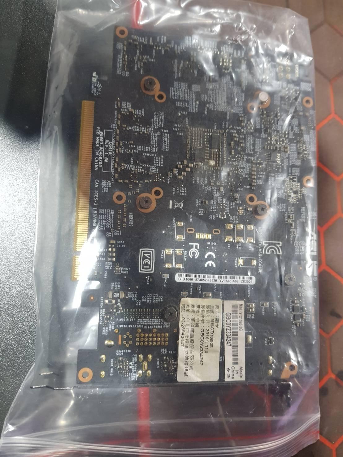 二手 ASUS GTX1060 3G 顯示卡 營GTX1050TI GTX1050 GTX1650 非礦卡