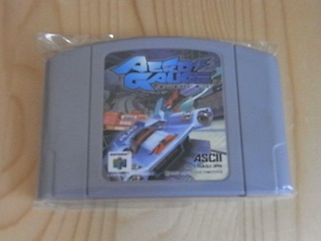 【小蕙館】N64日版卡帶 ~ AeroGauge 磁浮軌道車