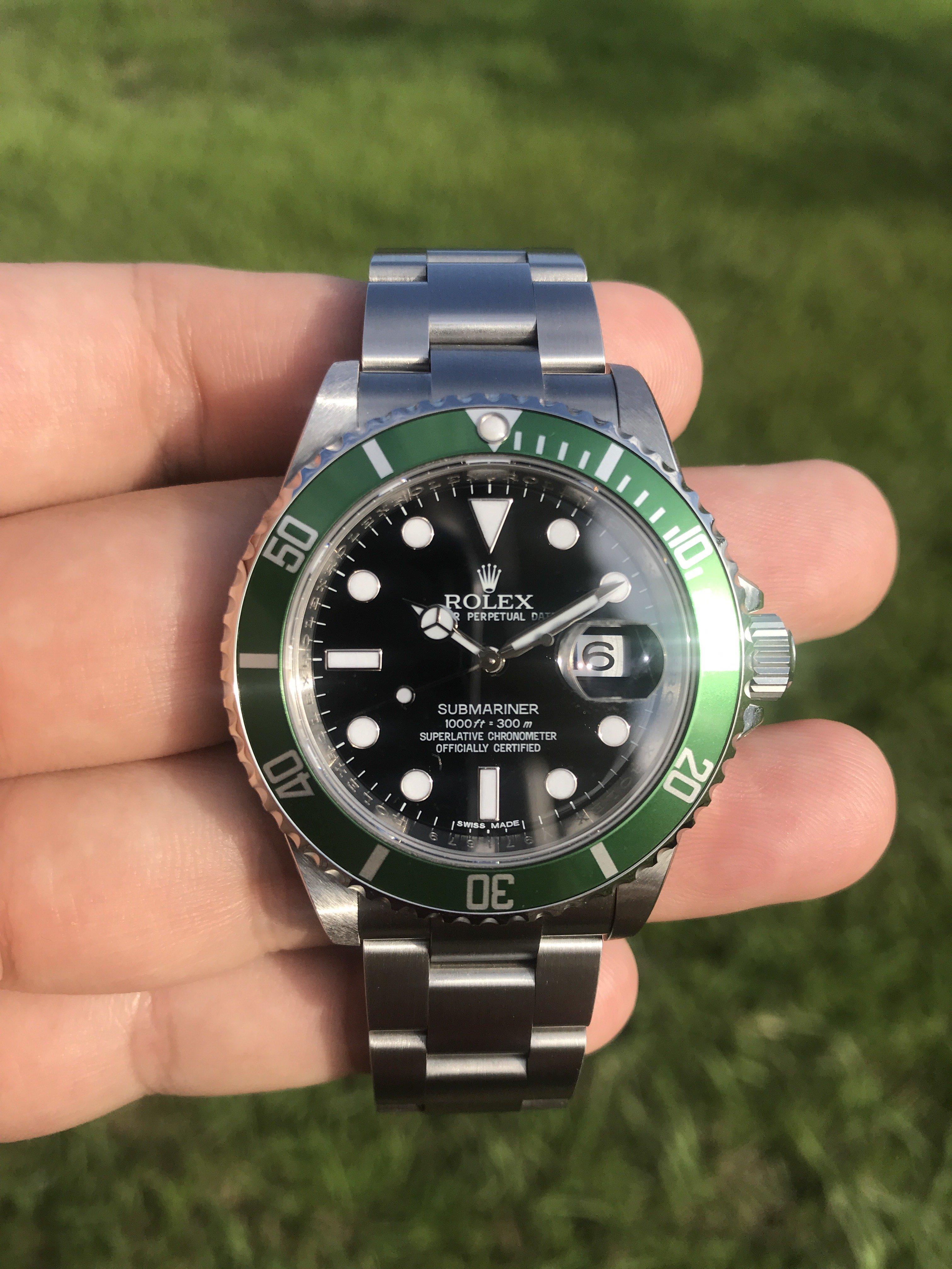 D✚L 正品手錶 ROLEX 16610LV 綠水鬼 AD貨 舊綠水鬼 非 126610lv 116610lv 平頭4
