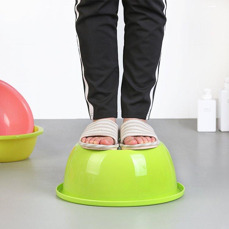 居家日用二期!!!家用耐摔加厚成人臉盆塑料嬰兒兒童洗臉小盆圓形洗衣廚房洗菜盆子