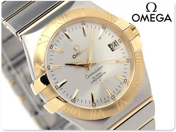 OMEGA 歐米茄 手錶 CONSTELLATION 星座 35mm 機械錶 18k金 藍寶石 瑞士 天文台 123.20.35.20.02.002
