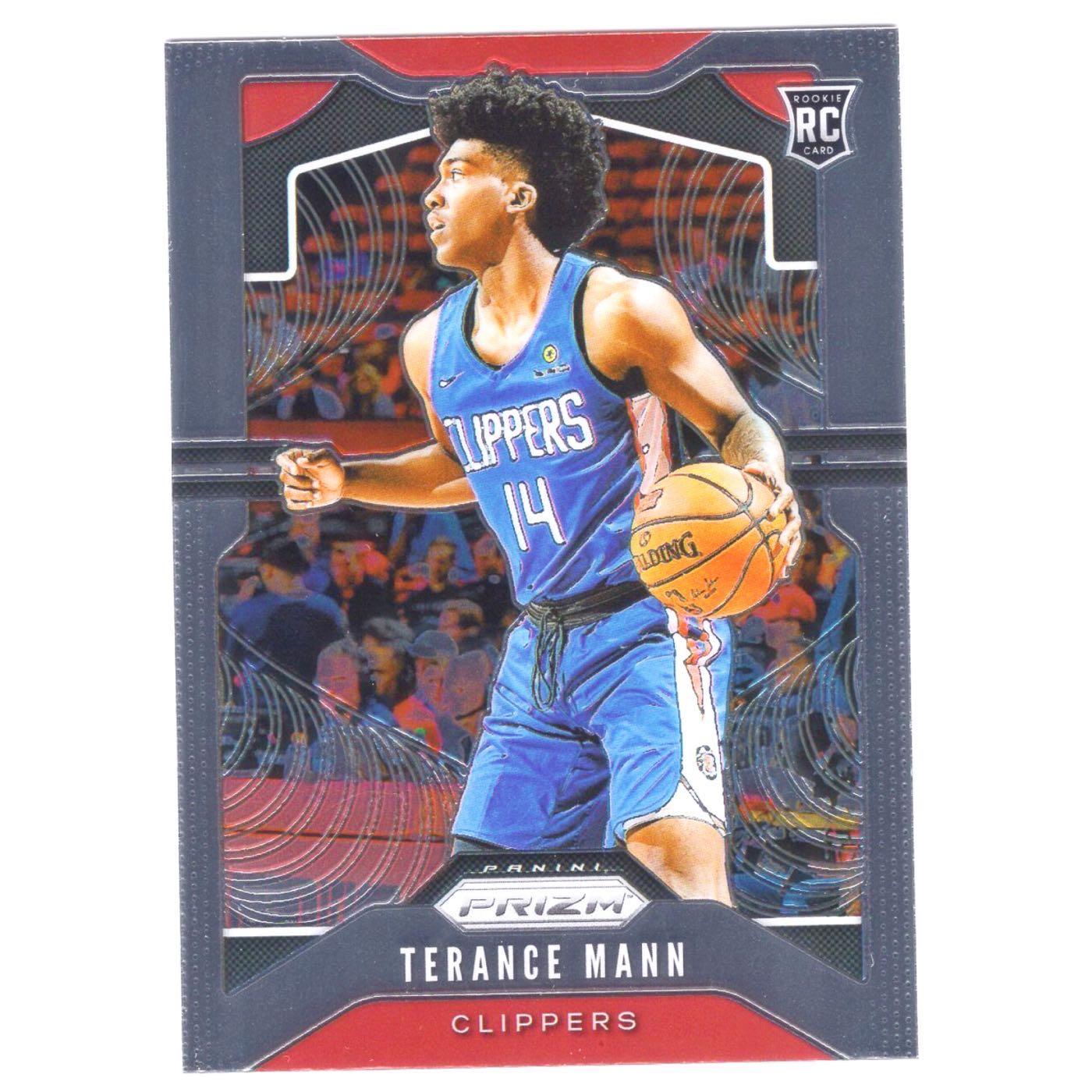 倒數15張!(RC) 快艇未來 Terance Mann 漲值保證Prizm Base Rookie系列新人RC金屬卡 2019-20 #296