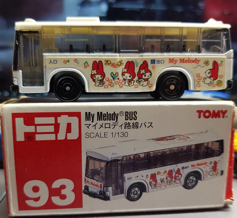 絕版老品 tomica no.93 my melody bus 美樂蒂 巴士 mitsubishi fuso 模型車