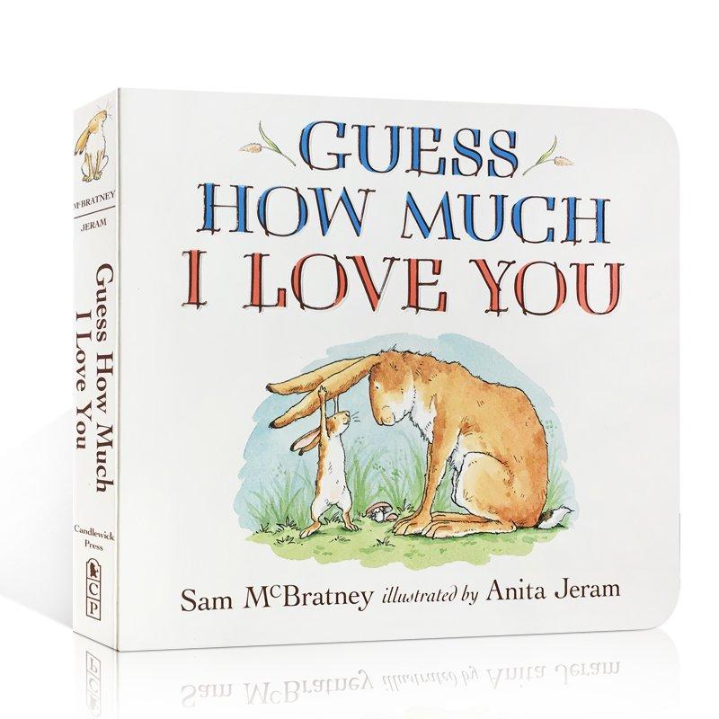 英文原版Guess How Much I Love You猜猜我有多愛你 廖彩杏書單繪本兒童啟蒙益智認知早教紙板圖書讀物