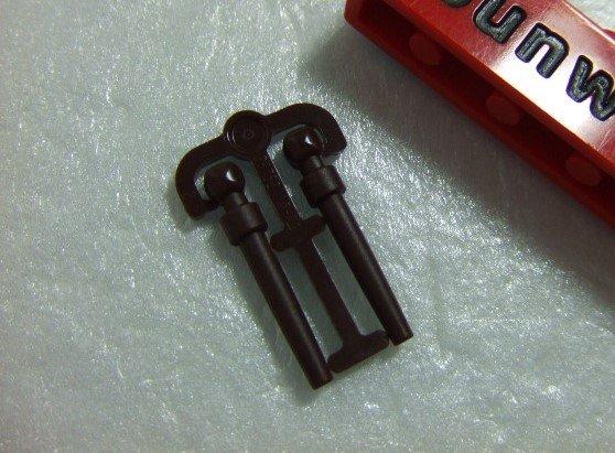 【積木1977】Lego樂高-全新-哈利波特系列 深咖啡色魔杖/魔法杖(一組2支)(Dark Brown)(U-15)