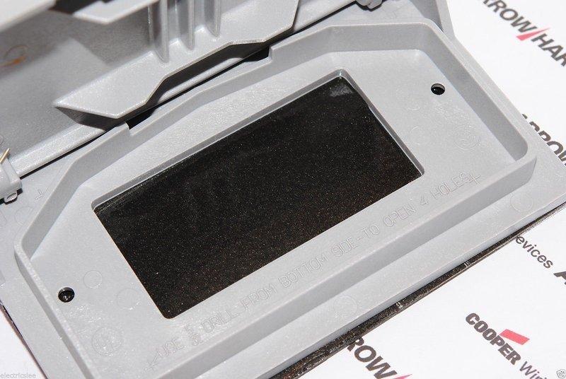 美國 COOPER S3966 方形塑膠防水面板&蓋板 灰色 (DECORATOR型)