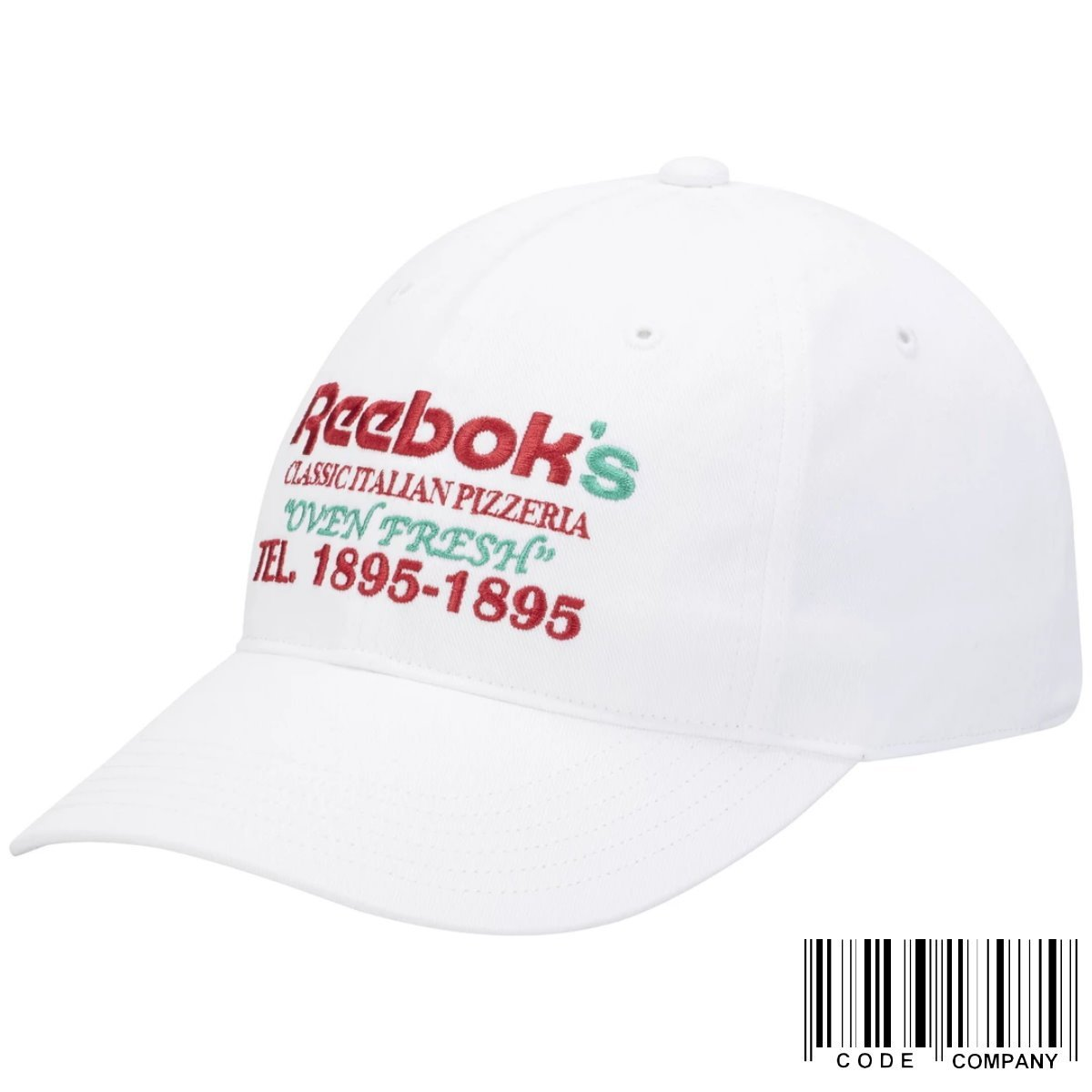 CodE REEBOK CLASSIC GRAPHIC FOOD CAP 電繡棒球帽(白) ED1270 老帽 男女