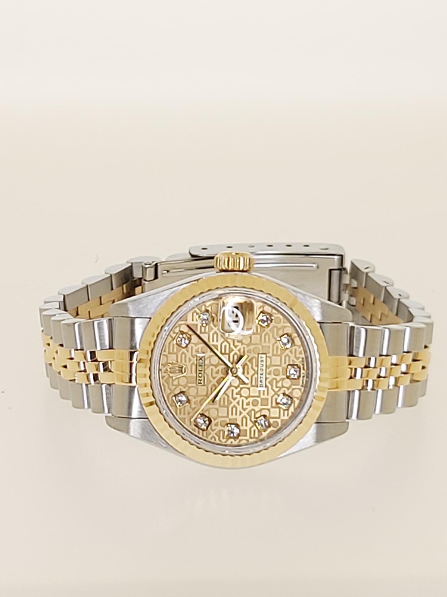 【益成當鋪】流當品 黃白ROLEX 半金69173型勞力士鑽石電腦紀念面女錶