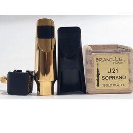 ♪LC 張連昌薩克斯風♫『BRANCHER J21 SOPRANO GOLD PLATED』 M-076