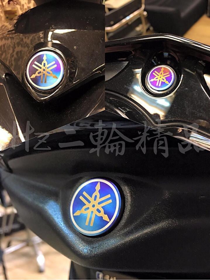 Hz二輪精品 音叉 鈦片 燒鈦 logo 標誌 正鈦合金 勁戰三代 勁戰 儀表 大盾 尾燈下蓋 三代戰 非 彩鈦 貼紙