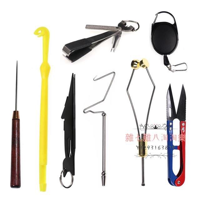 1個 金屬飛蠅打結器 飛蠅繞線器 勾線器 掛扣 塑料打結器 穿線針 剪刀 飛蠅制作用小工具Fly Tying Tools#雜七雜八淘淘樂