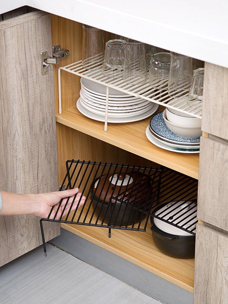 小姐姐『居家』買五贈一(可 )~~可伸縮鐵藝廚房置物架櫥櫃碗碟架廚具瀝水收納架家用調味品架子