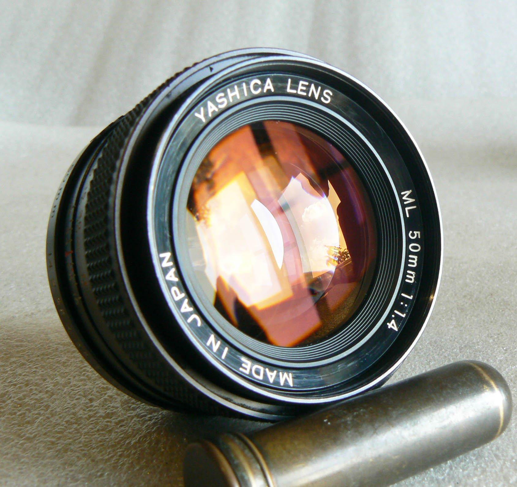【悠悠山河】收藏級 Contax T* 同級 Yashica ML 50mm F1.4 CY口 鏡片完美透亮無刮無霉無塵