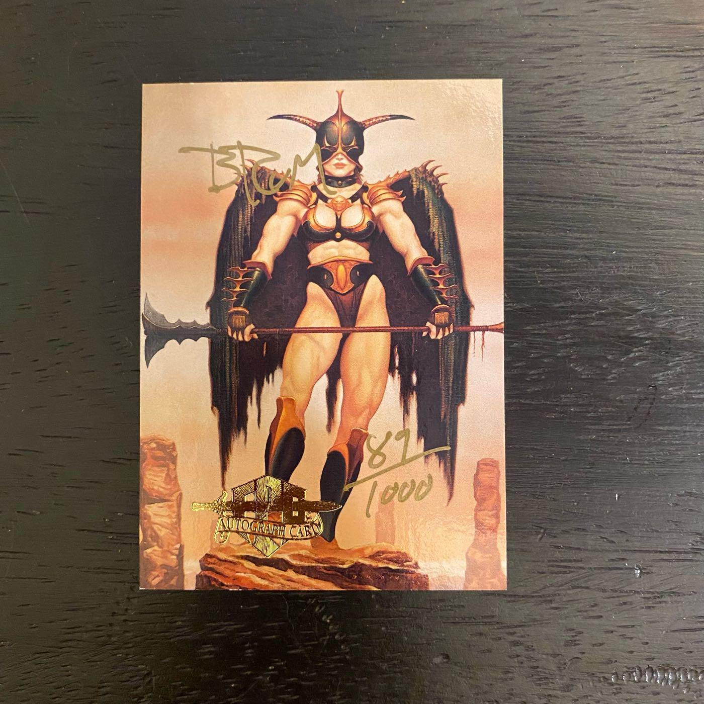 1992 FPG BROM 藝術家 親筆簽名 收藏卡 brom art  #89/1000