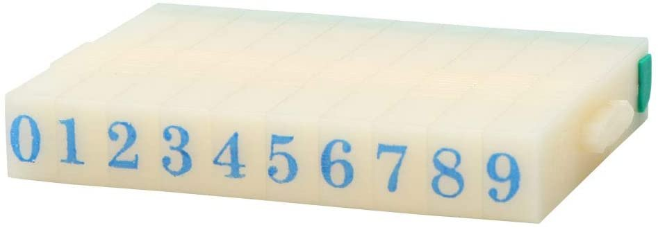 7mm Rubber 0-9 Digits Detachable Number Stamp Stationery