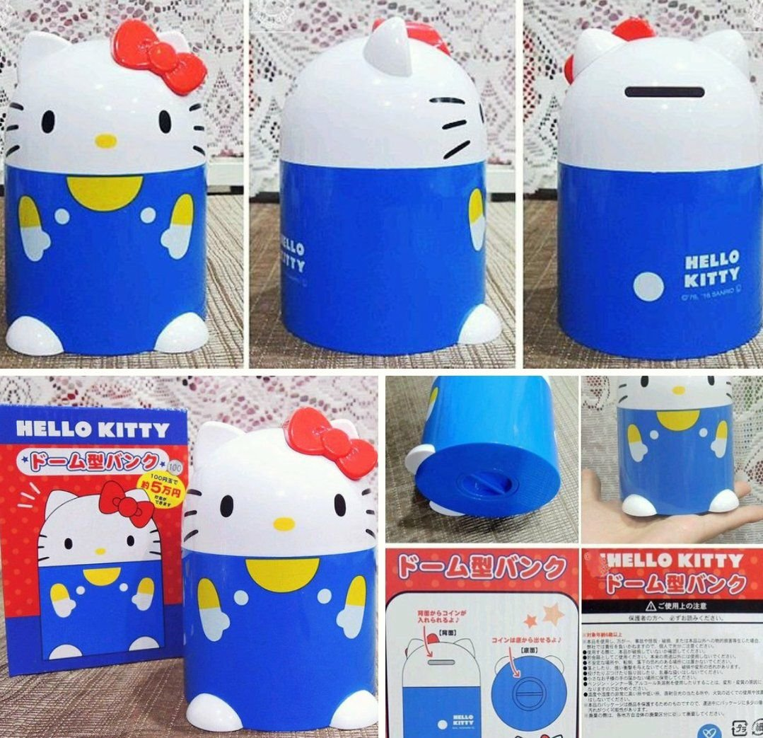 牛牛ㄉ媽*  品㊣HELLO KITTY存錢筒 凱蒂貓撲滿 儲金筒 圓筒人型款 小費箱 生日 送禮自用
