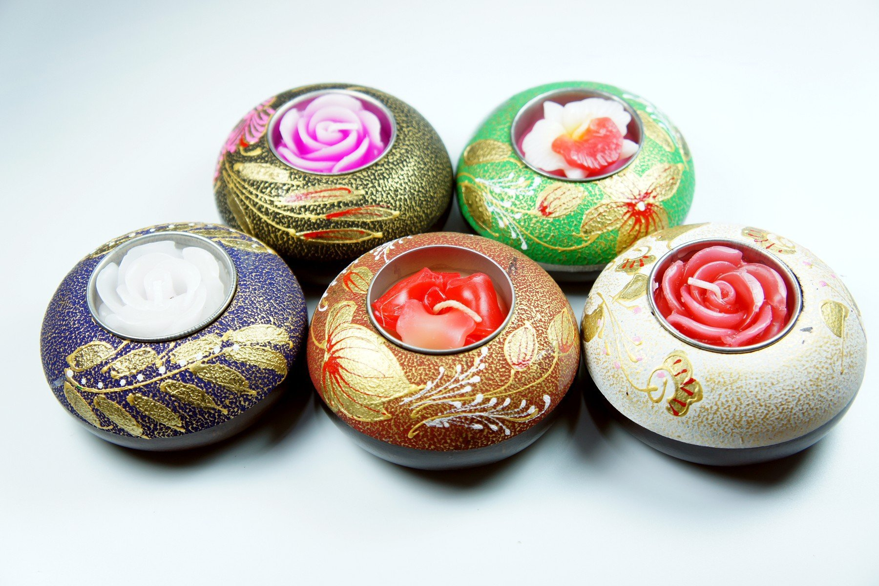 「還願佛牌」泰國 家居 東南亞風格 手繪 簡約風 芒果木 圓型 小燭台