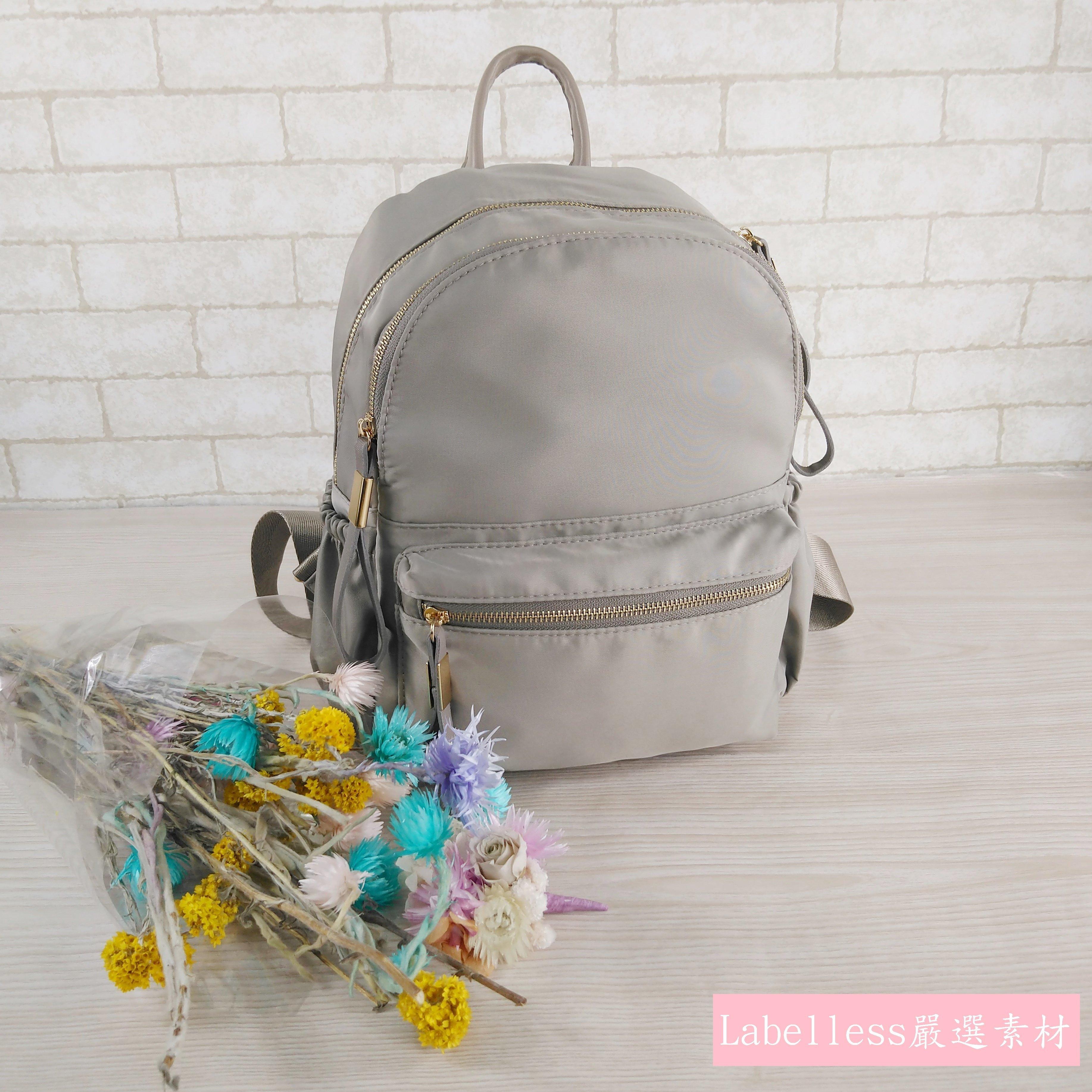 【Labelless小舖】 新灰色包款.源自淑女的魅力.強調 素材.簡約 .純淨風格. 包款.女用後背包