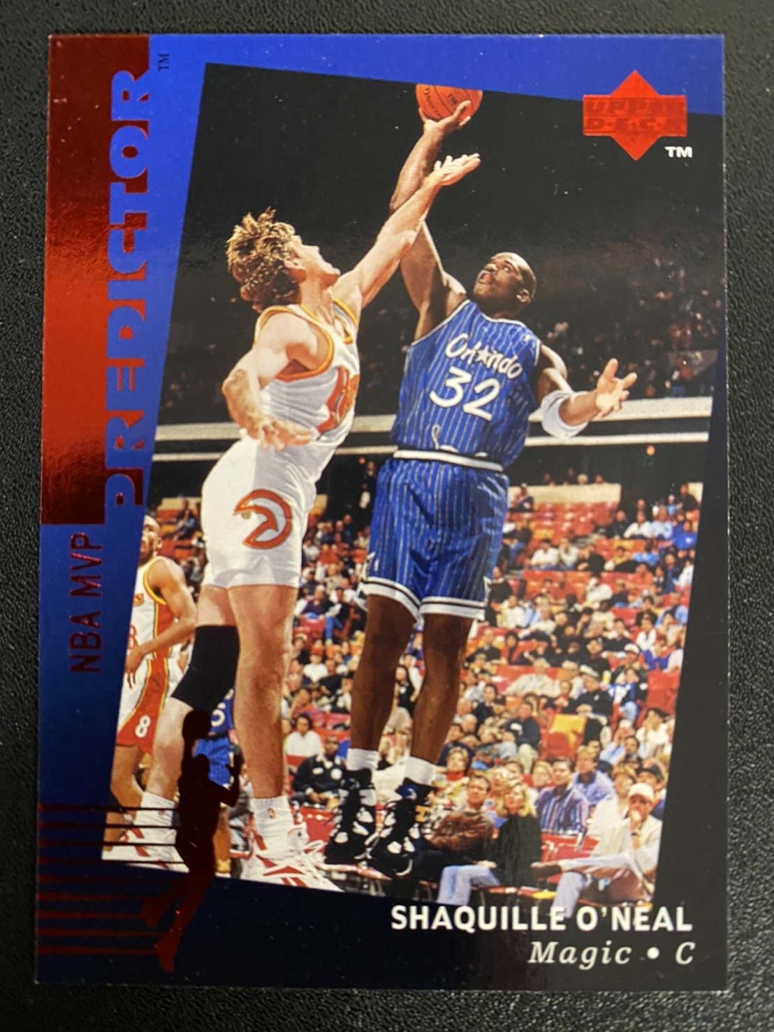 Shaquille ONeal 1995-96 Upper Deck Predictor #H21 RED