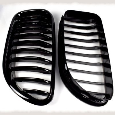 For F06GC 12 GRILLES SHINY BLACK 水箱罩 全亮高級黑烤漆