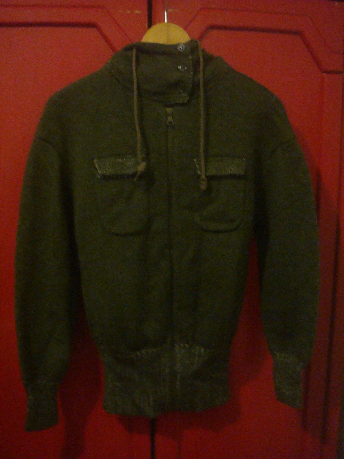 POLO Jeans co 軍綠 針織 連帽 拉鍊 外套 S號 香港製