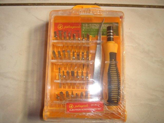 (大樹的家) : 31件多用螺絲刀 電腦數碼鐘表修理工具套裝遙控玩具手機修理工具套大