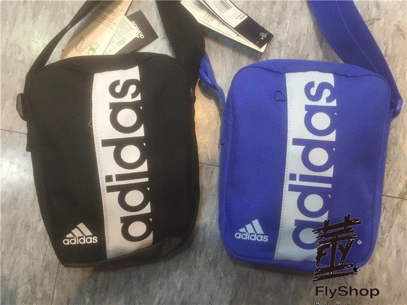 [飛董] ADIDAS LINEAR PER MESSAGER BAG 側背包 S99975 黑 CF5009 藍