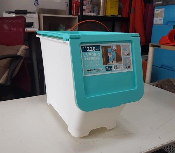 小毛收納館『KEYWAY LV500-1 LV500-2中前開式收納箱』含稅開發票 聯府 置物箱 玩具 16L