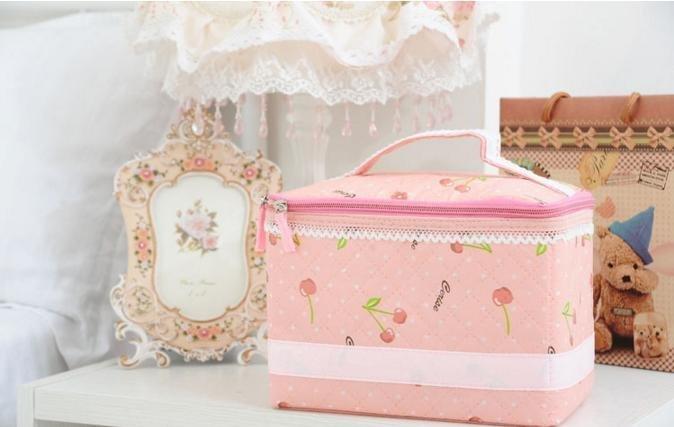 【ABH】櫻桃化妝包 化妝品收納 粉黛佳人儲物包 收納箱