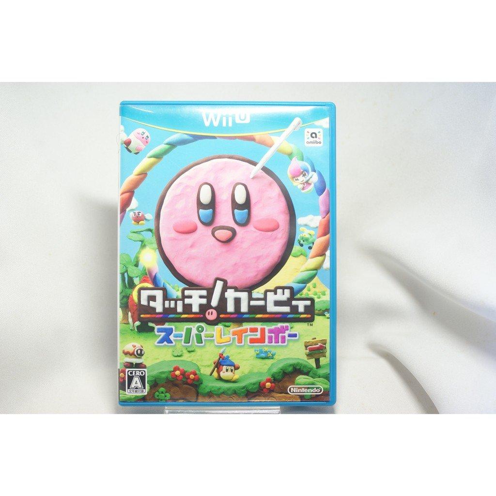 [耀西]二手 純日版 任天堂 Wii U WiiU 星之卡比 彩虹詛咒 含稅附發票