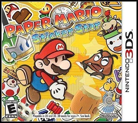 3DS 全新美版【紙片瑪利歐 超級貼紙】【紙片瑪莉歐 貼紙之星】
