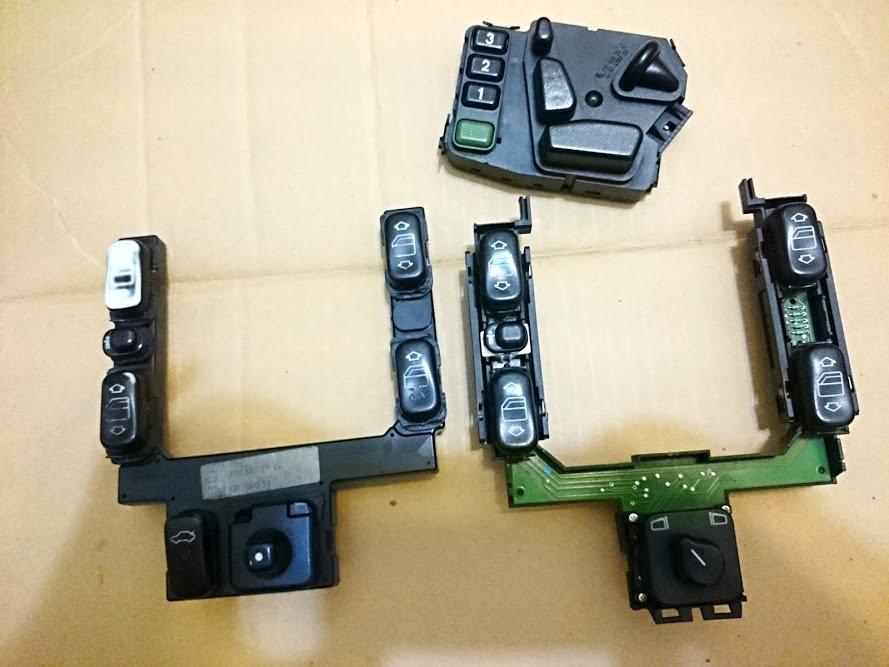 賓士 w210 w208 w202 電動窗 後視鏡 電動椅 開關 模組 維修 修理 免費故障檢查 clk 德祥行