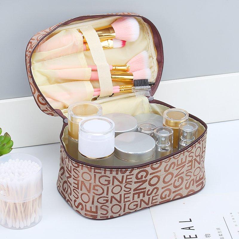 化妝包簡約大號便攜少女心袋多 收納盒品可愛網紅大容量箱韓國化妝包 補妝包 收納包 筆袋 洗漱包