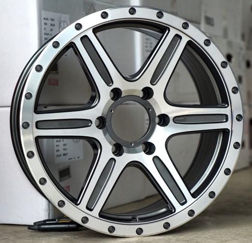 全新鋁圈 TF01 18吋鋁圈 6孔130 6孔139.7 亮鐵灰車面